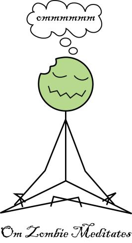 meditating zombie