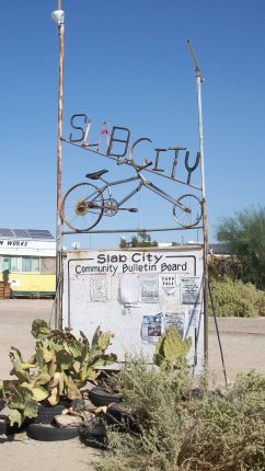 Slab City, California sign