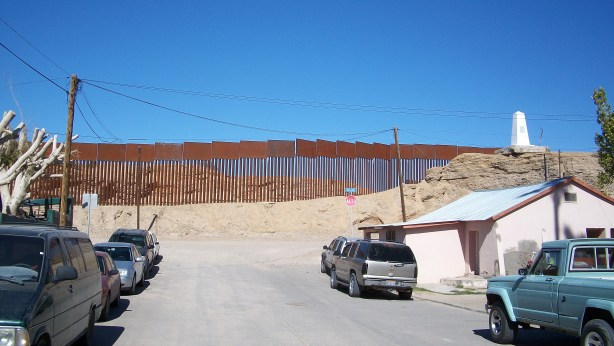The Border between Mexico and California