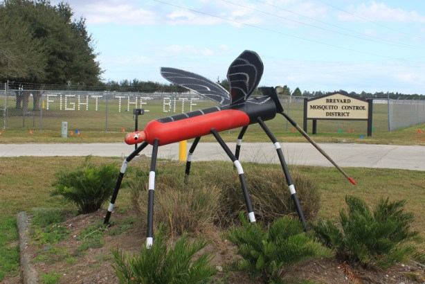 This is a Florida mosquito statue.