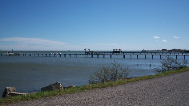 There are more linear feet of fishing piers than sidewalks in Rockport.