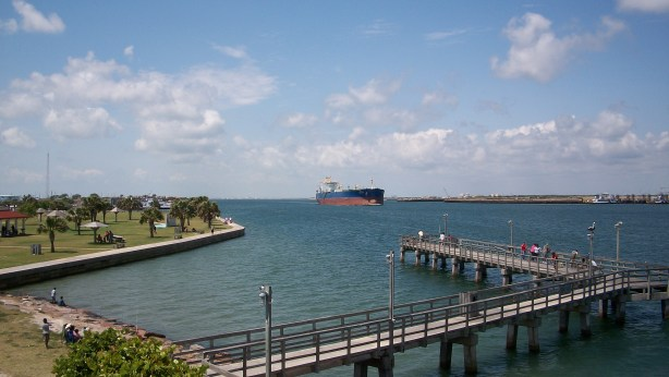 View of the channel from Port Aransas