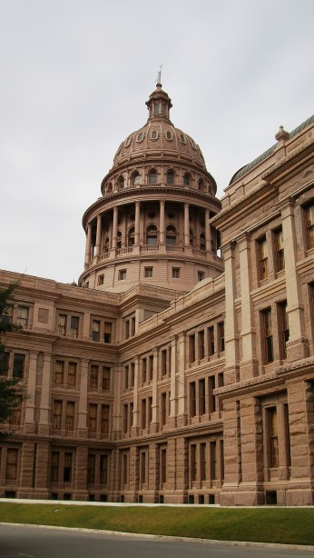 A capital Capitol Building in Austin, Texas.