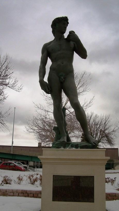 Michaelangelos's David in Sioux Falls, SD.