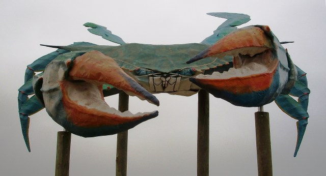 World's Largest Blue Crab, Rockport, Texas.