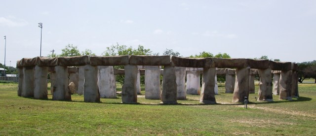 The Stonehenge in Ingram, Texas.
