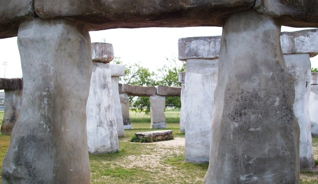 The sacrificial slab of Stonehenge in Ingram, Texas.