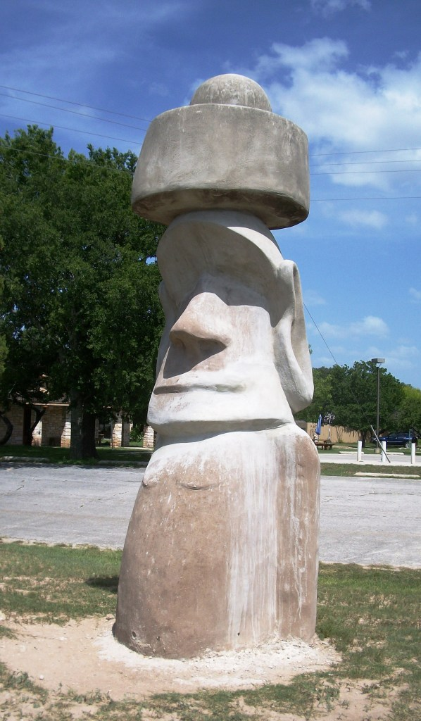 Another big stone head in Texas. I'm pretty sure he's stone cold sober. *rim shot*