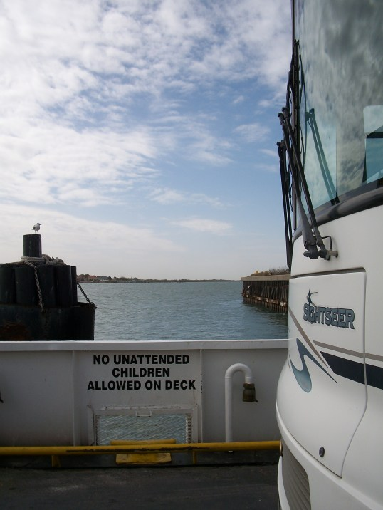 My RV on the ferry.
