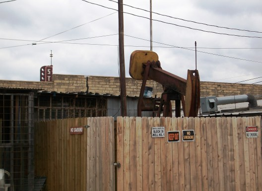 """This is a plain, unadorned pumpjack. """"Not in my yard!"""""""