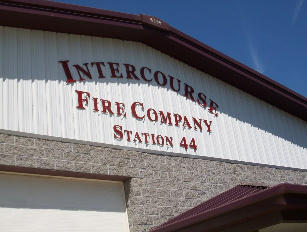 Intercourse Fire Company... Intercourse Fire Men inside. Oh my.