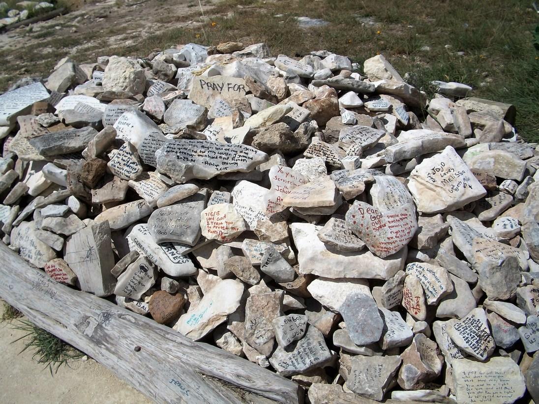 Prayer rocks.
