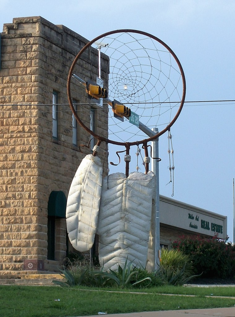 Giant Dream Catcher in Marble Falls, Texas.