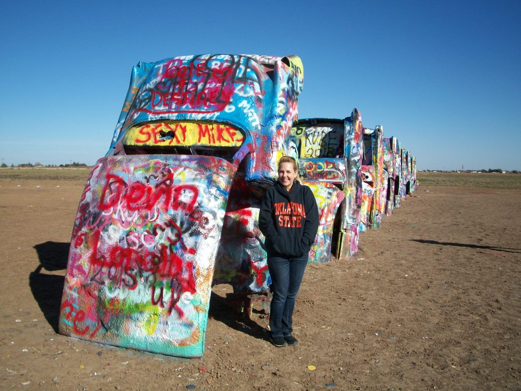 Me at The Cadillac Ranch.