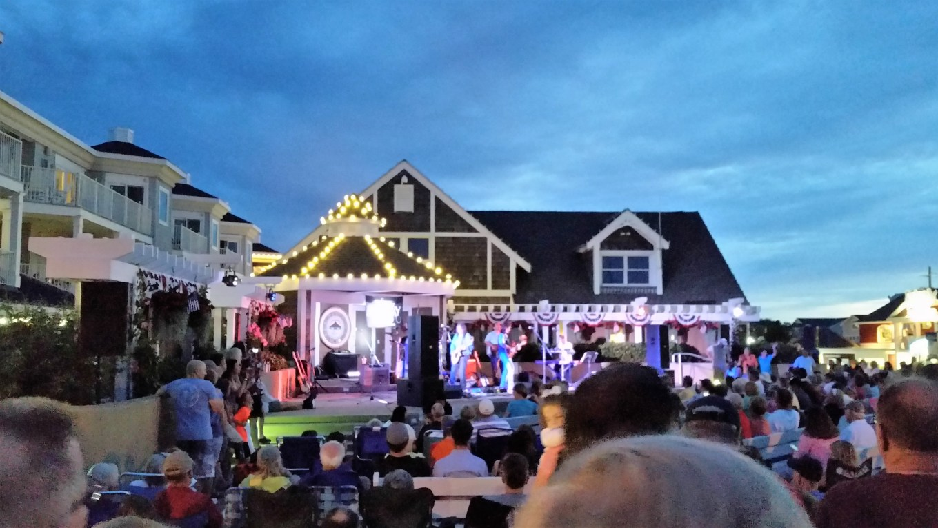 Concert in downtown Bethany Beach, DE.