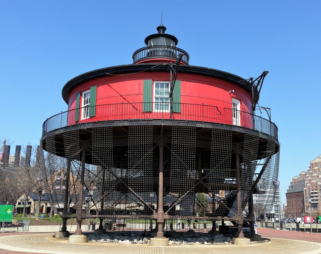 The Seven-foot Knoll Lighthouse in Baltimore Harbor.