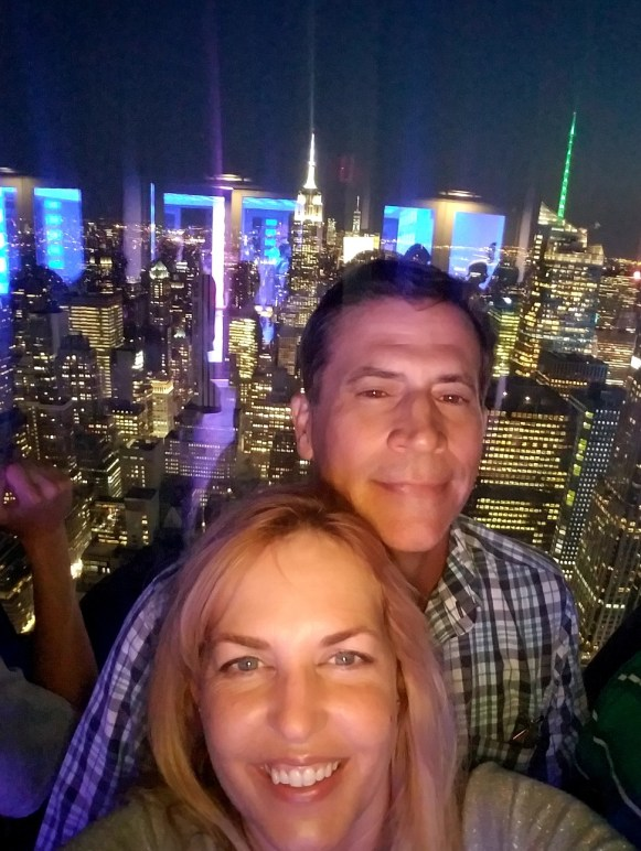 The obligatory selfie at The Top of The Rock.