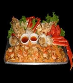 Santiago's_Grill_seafood_sampler