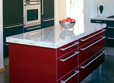 red-kitchen-island