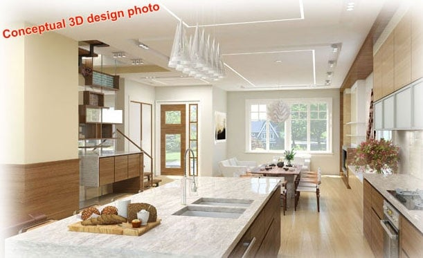 3D conceptual design for new home - photo