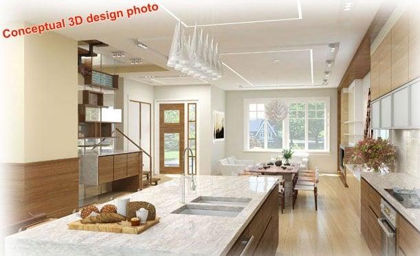3D conceptual design for new home - photo