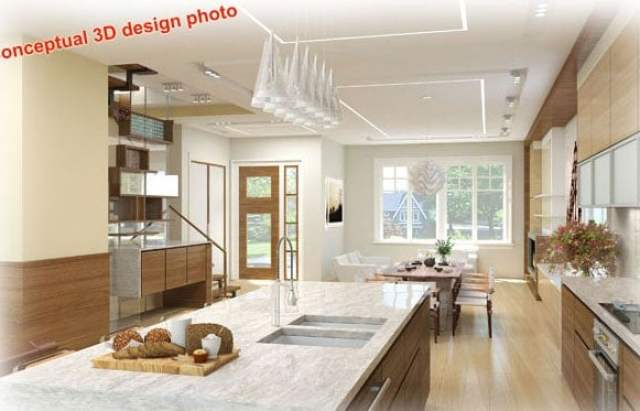 conceptual 3D floor plan