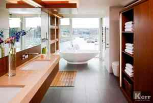 Bathroom Floor to Ceiling Windows