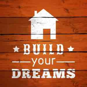 Typographic Poster Design - Build Your Dreams. illustration