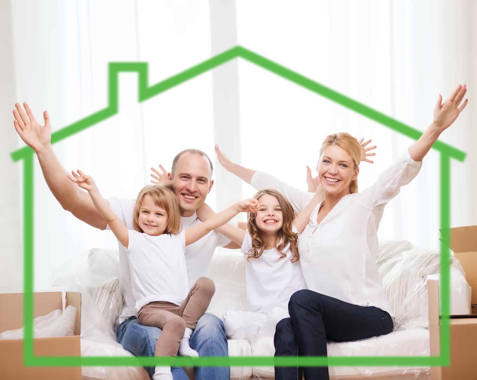 green luxury home