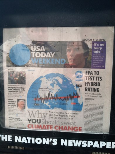 If it's on the first page of USA Today it must be true.