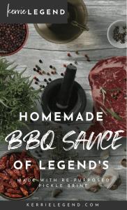 Homemade BBQ Sauce - Kerrie Legend