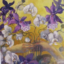 Orchids for Picasso, oil, 24x24