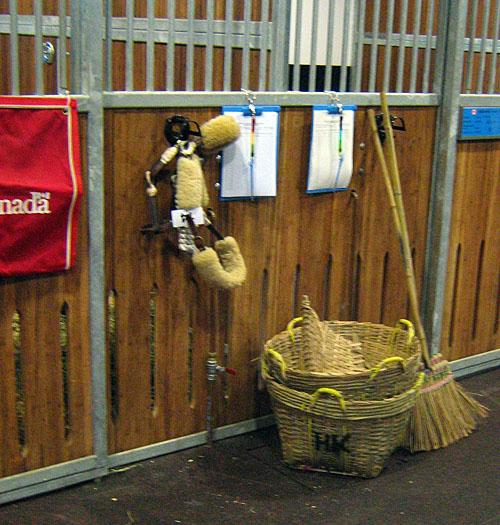 muck baskets and broom...Hong Kong style