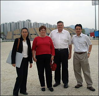 Mike and Janette visit the Sha Tin venue