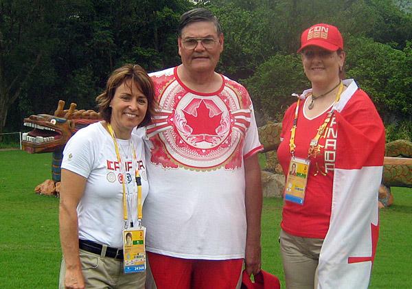 chef de mission Sylvie Bernier, team leader Mike G and me