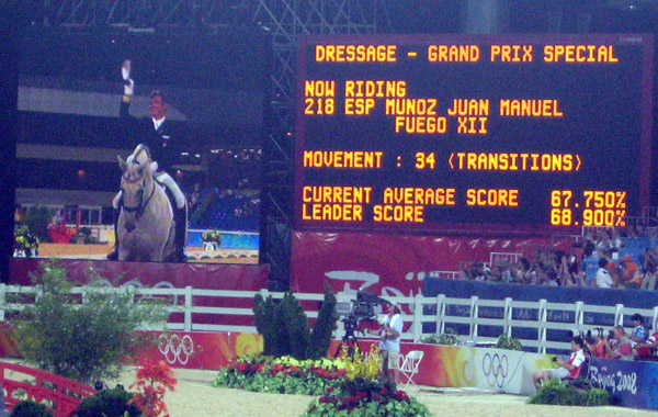 Spanish rider Juan Manuel Munoz and Fuego XII rode to a 16th place on 68.160%