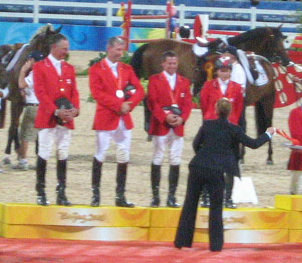 Princess Haya and the Silver medal team