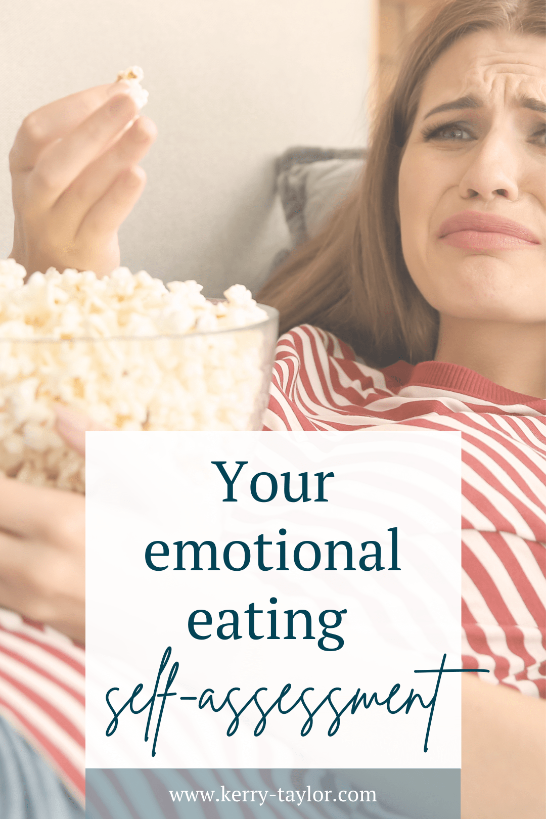 Pinnable graphic with post title your emotional eating self-assessment