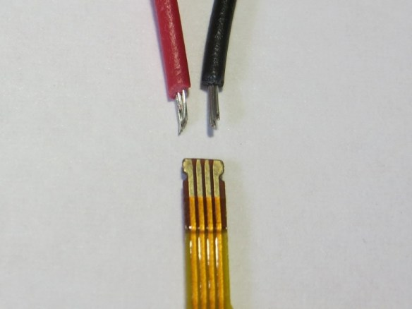 Touchscreen connector compared to 24-gauge hookup wire