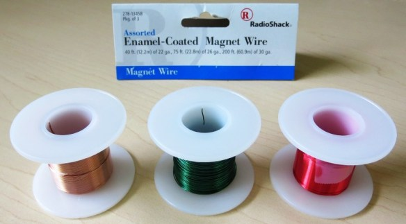 Thin, Enamelled Wire from Radio Shack for Winding Magnets