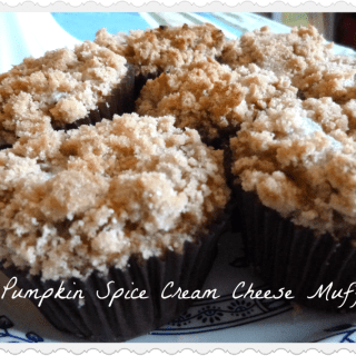 Pumpkin Cream Cheese Muffins with crumble topping