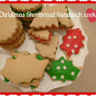 Christmas Shortbread Sandwich Cookies