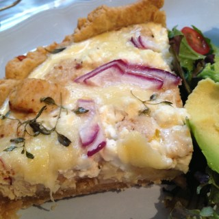 Homemade Chicken, Red Onion, Thyme and Feta Quiche