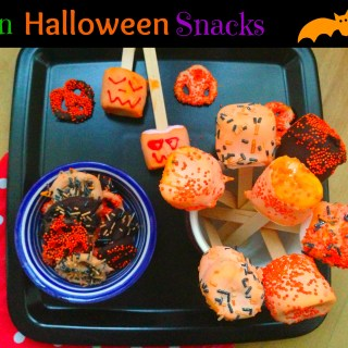 Halloween Pretzel and Marshmallow Pops