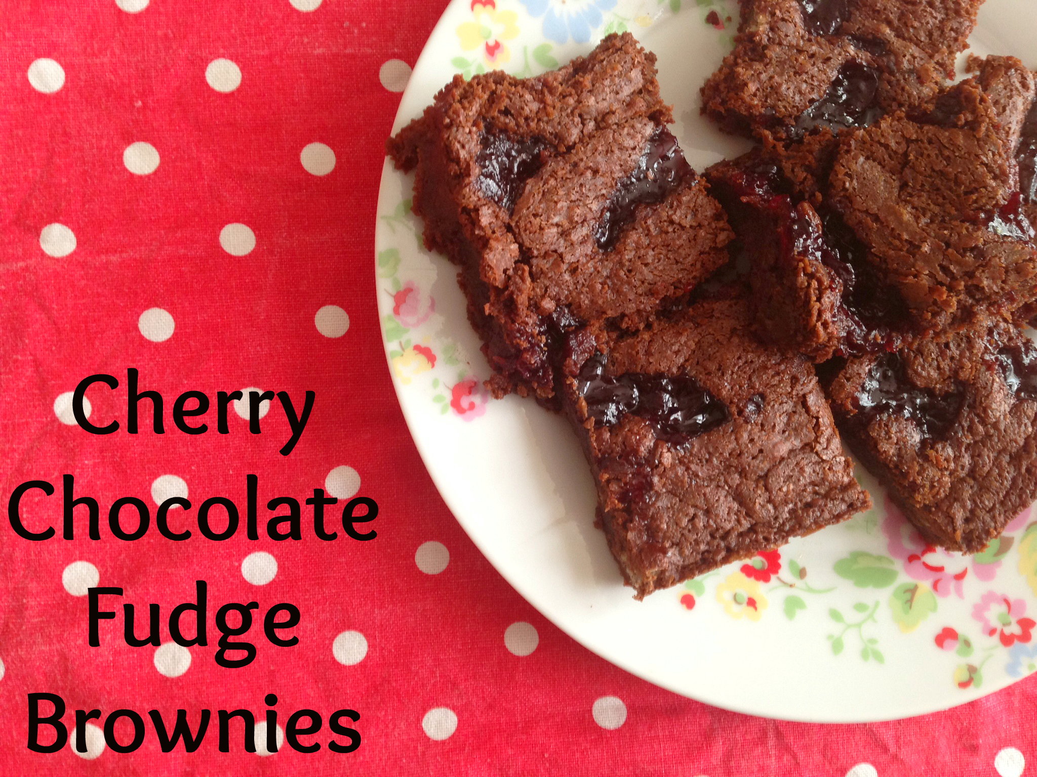 Cherry Chocolate Fudge Brownies