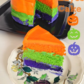 Colourful Halloween Layer Cake