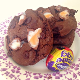 Creme Egg Chocolate Chip Cookies