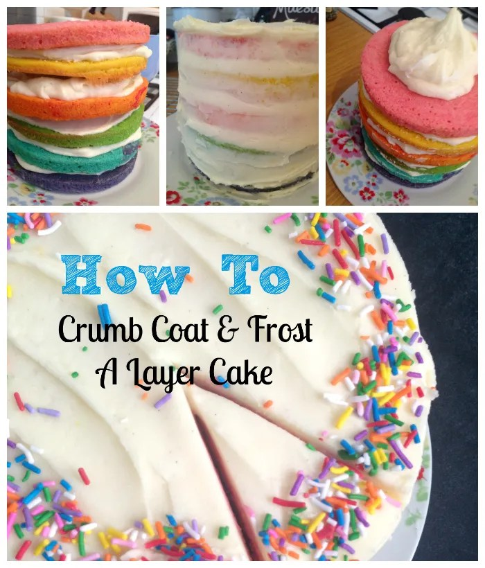 How to: Crumb Coat and Frost a Layer Cake - great tips