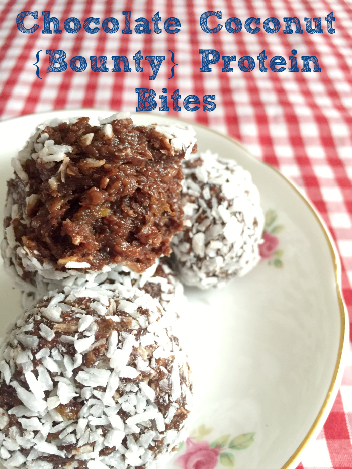 Chocolate Coconut {Bounty} Protein Bites