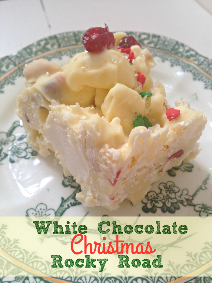 Christmas White Chocolate Rocky Road